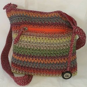The Sak Crossbody Multi-color Crochet Purse Boho